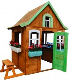 Домик Цветочный c кухней и цветочницами Р920-2