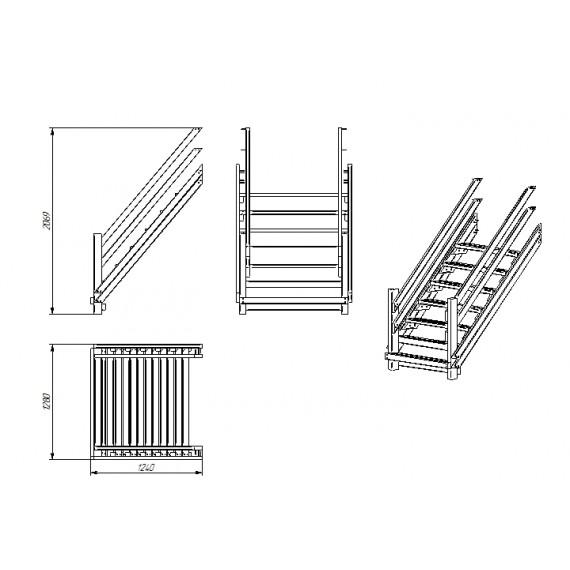 Лестница для спортивного городка P921
