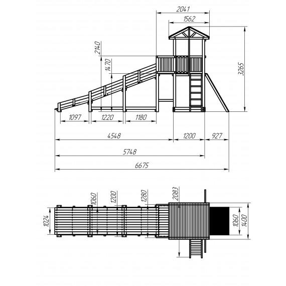Зимний игровой комплекс СГ3-Р919