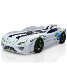 3D Dreamer белый с подсветкой фар и дна и колесами