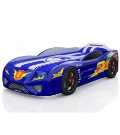 3D Dreamer синий с подсветкой фар и дна и колесами