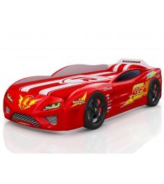 3D Dreamer красный с подсветкой фар и дна и колесами