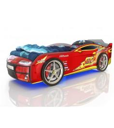 3D Kiddy красная молния с подсветкой фар и дна