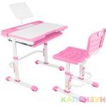 Парта трансформер со стулом Капризун A7-pink