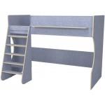 Кровать чердак Р432 Капризун 1 лен голубой